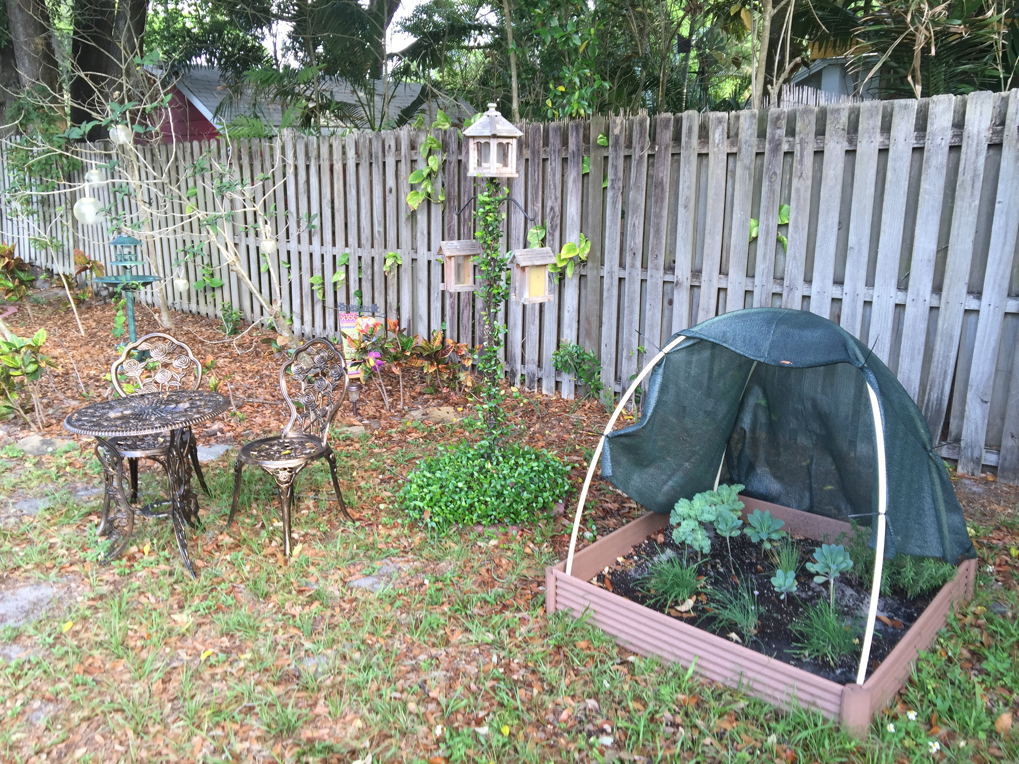 Bistro Area and Herb Garden