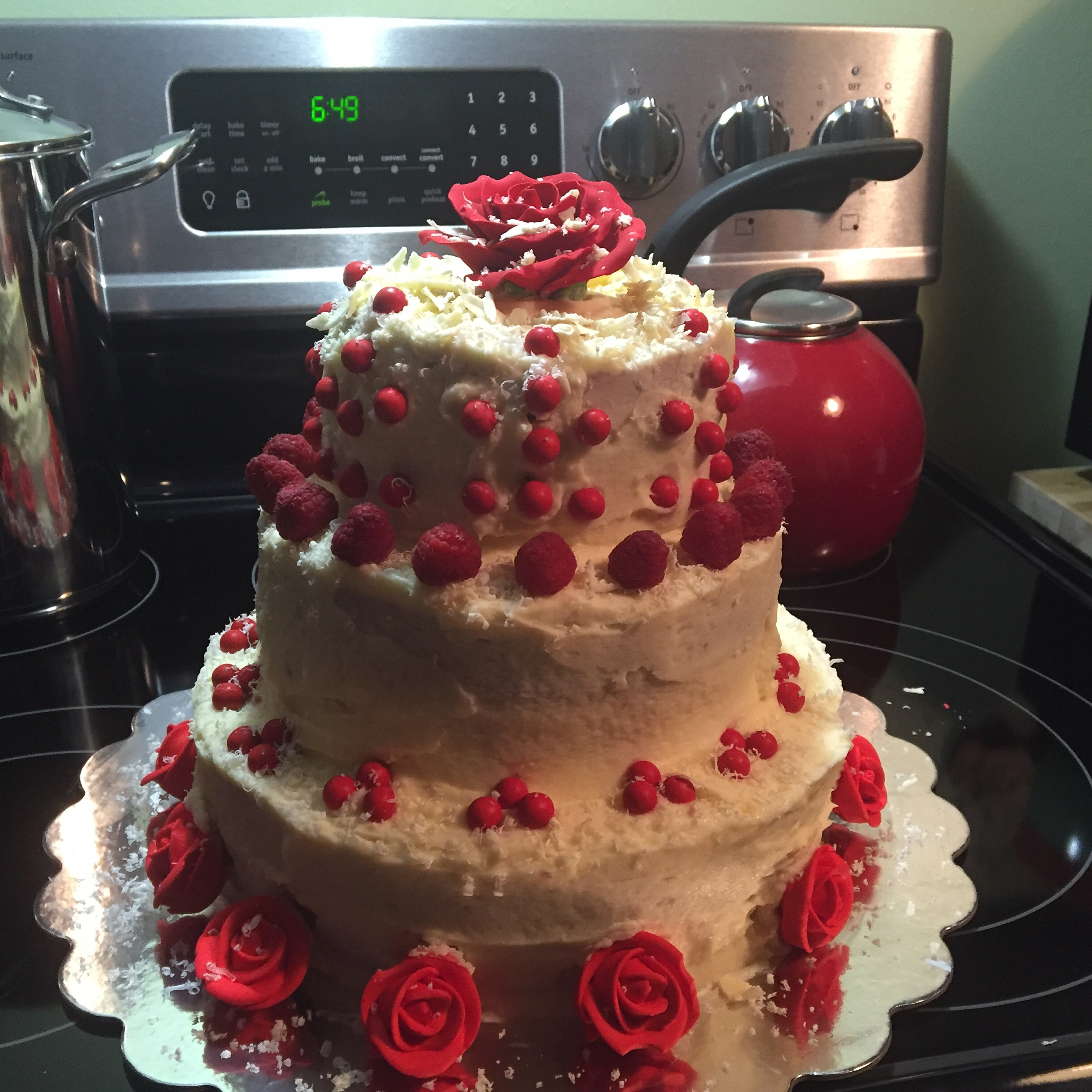French Vanilla Cake With Raspberry Cream Filling And