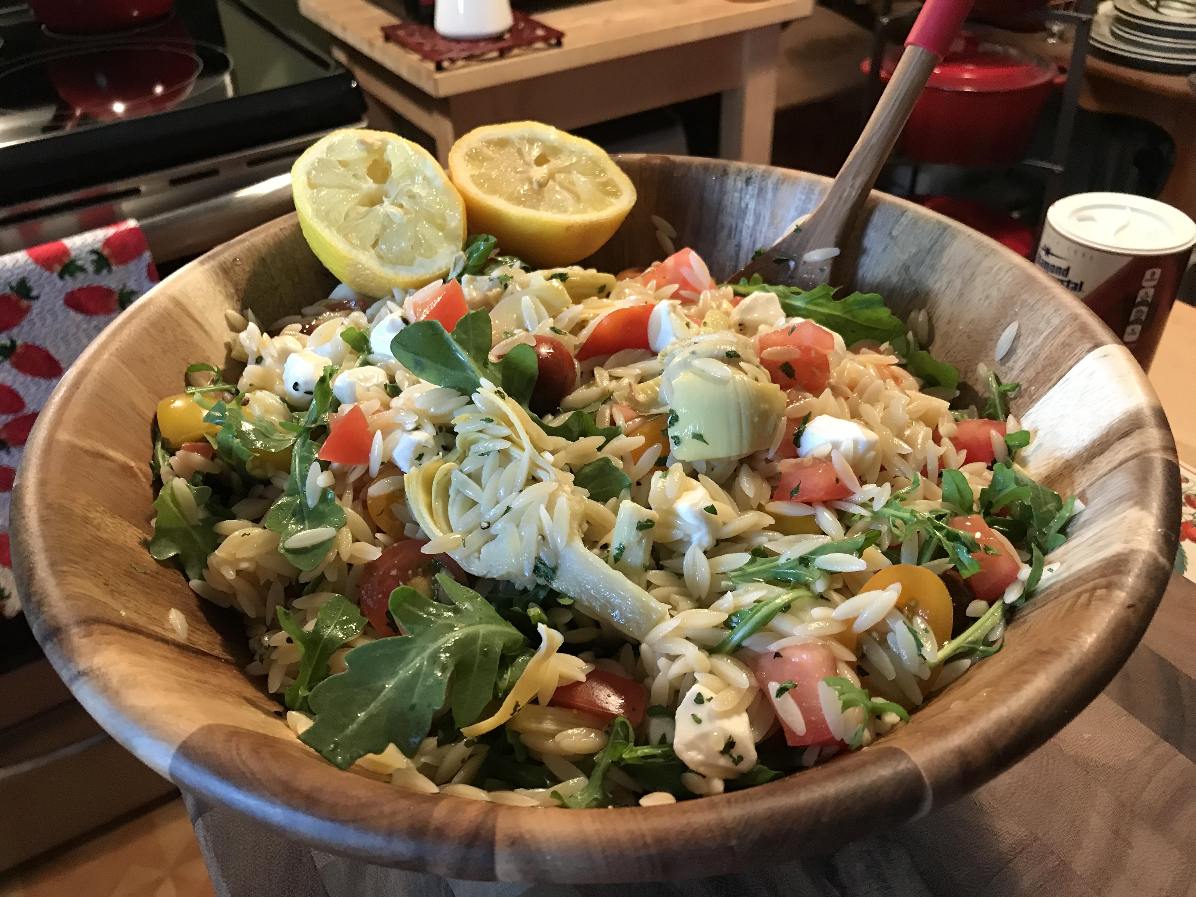Orzo And Heirloom Tomato Salad