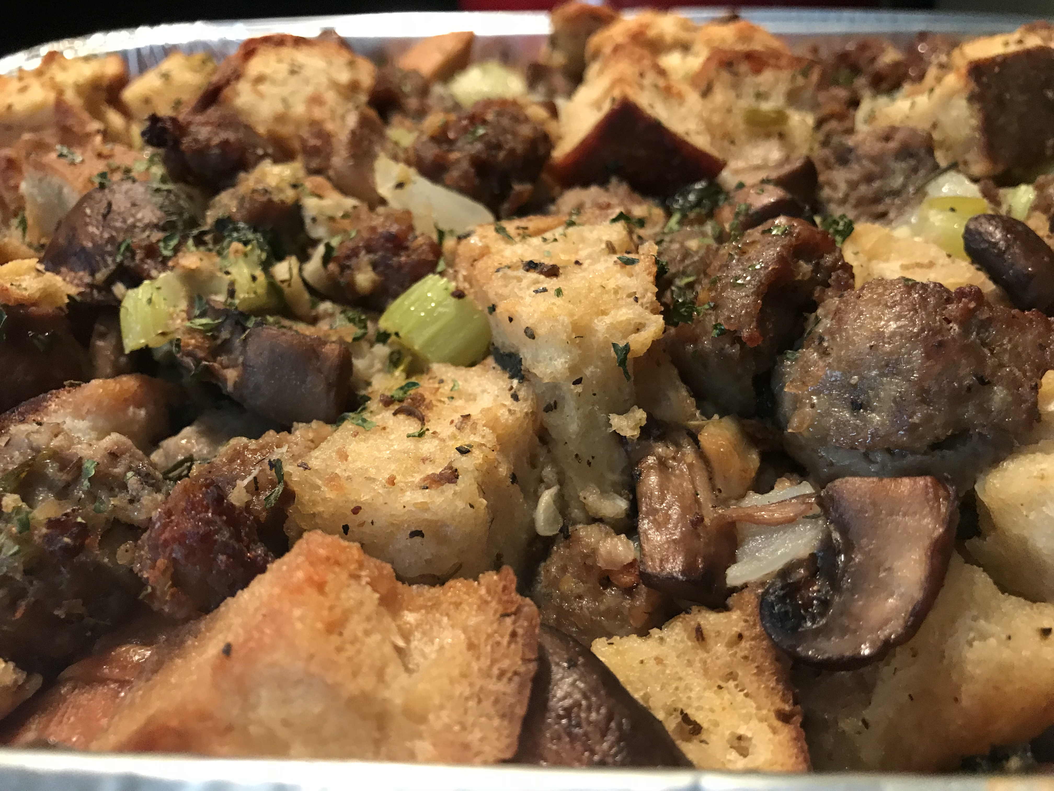 Sweet And Hot Italian Sausage Stuffing (1)