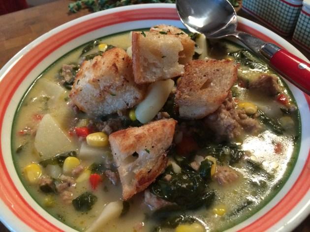 Tuscan Sausage, Kale And Potato Soup
