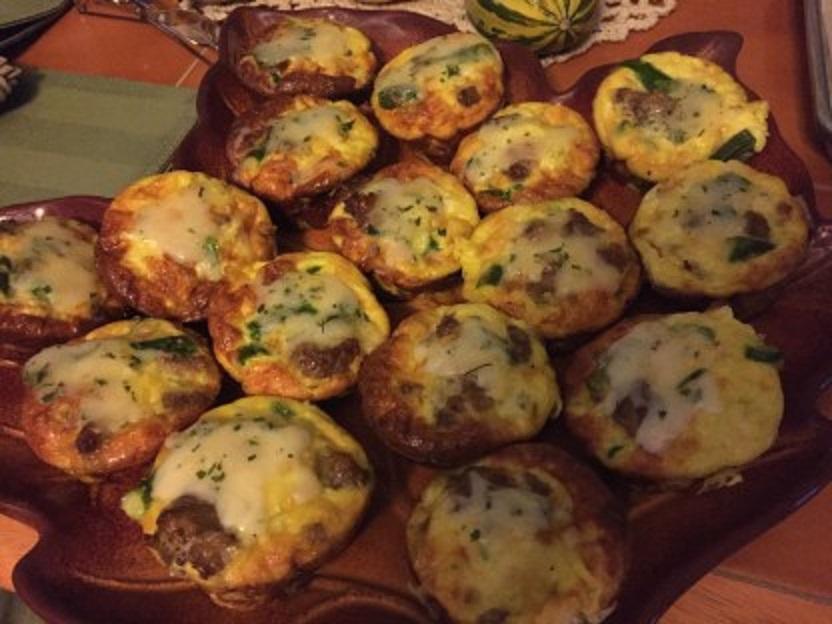 Mini Sausage, Asparagus, And Truffle Fontina Cheese Frittatas (2)
