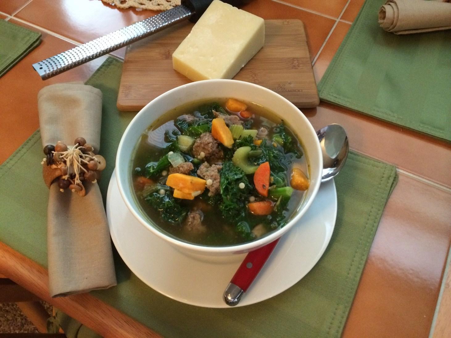 Turkey Sausage, Sweet Potato, And Kale Soup (2)